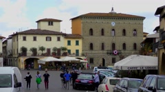 4K footage of the historic city centre in Greve in Chianti, Italy Stock Footage