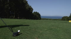 Close up shot of a great golf shot. Stock Footage