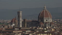 Skyline Florence from Piazalle Michelangelo, Cathedral Stock Footage