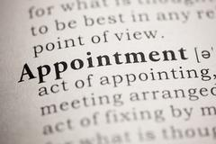 Appointment - stock photo