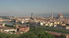 Skyline Florence from Piazalle Michelangelo Stock Footage