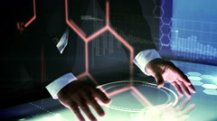 Businessman showing dna helix Stock Footage