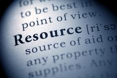 Resource - stock photo