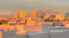 Timelapse, panning of the University of Nevada, Las Vegas at sunrise. Stock Footage