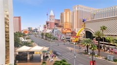 Timelapse of a Las Vegas intersection with the Casino Royale and a large Stock Footage