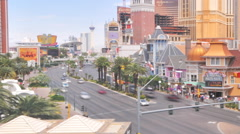 Stock Video Footage of Timelapse of the view of the Casino Royale and a large McDonalds in Las Vegas.