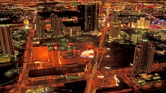 Stock Video Footage of Static, Timelapse shot from the top of the Stratosphere Hotel in Las Vegas.