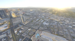 Zooming view of nightfall in Las Vegas from the Stratosphere Hotel. Stock Footage