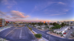 Fisheye view from a parking lot to the University of Nevada. Stock Footage