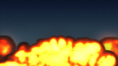 A huge explosion erupts followed by smoke. Stock Footage