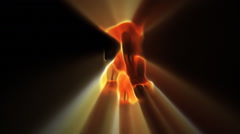 Flames rise from a black void followed by the same pattern in white. Stock Footage