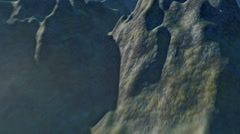 Majestic aerial view of flying over a rugged mountainous terrain. Stock Footage