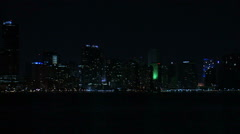 Cityscape of Miami at night. Stock Footage