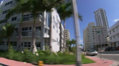 Driving through residential Miami with a wide angle lens. - stock footage