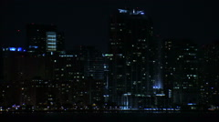 Nighttime cityscape of Miami. Stock Footage
