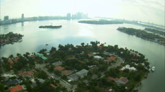 Aerial shot of Miami. Stock Footage