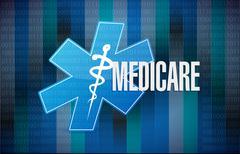 Medicare binary sign concept illustration design - stock photo
