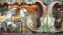 Merry-go-round revolving in Paris. - stock footage