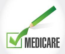 Medicare check mark sign concept - stock photo