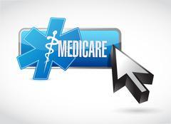 Medicare button technology sign concept - stock photo