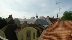 Tallinn in Estonia: roofs Stock Footage