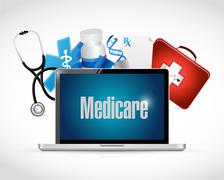 Medicare health technology sign concept - stock photo