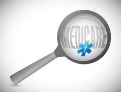 Medicare search sign concept Stock Photos