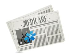 Medicare paper sign concept illustration Stock Photos