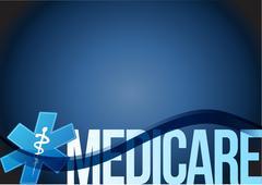 Medicare sign concept illustration design Stock Photos