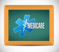 Medicare board sign illustration design Stock Photos