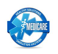 Medicare seal sign illustration design - stock photo