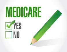Stock Photo of Medicare approval sign illustration