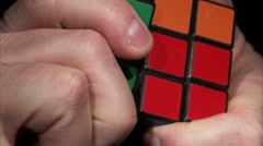 Close up of a Rubik's Cube being solved. Stock Footage