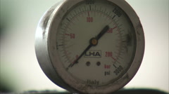 Shot of a PSI dial. Stock Footage