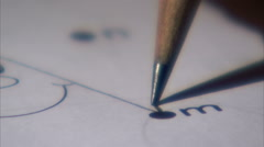 Extreme close up of a pencil connecting dots. Stock Footage