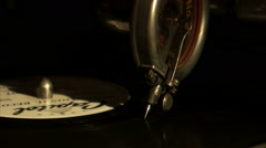 Extreme close up of a record needle on a record. Stock Footage