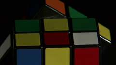 Close up of a Rubik's Cube spinning. Stock Footage