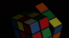 Close up of a Rubik's Cube rotating. Stock Footage
