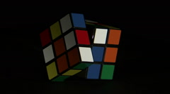 Rubik's Cube spinning. Stock Footage