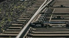 Rails, turnout, point Stock Footage