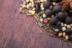 Oriental herbs - stock photo