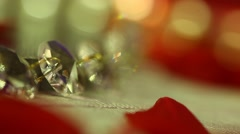 Diamonds Jewelry at color background Stock Footage
