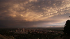 Panorama of downtown Salt Lake City Stock Footage