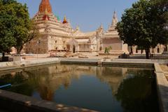 Reflecting pool of  Ananda Phaya Temple - stock photo