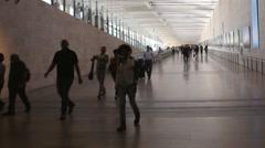 Unidentified passengers at Ben Gurion International Airport Stock Footage
