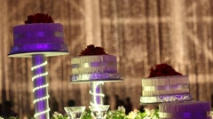 Birthday Cake at function Stock Footage