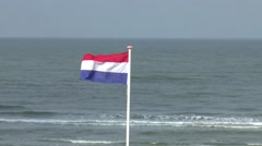 Calm wind is moving Dutch flag Stock Footage