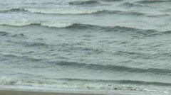 Turbulent water of the Nordsea near the coast Stock Footage