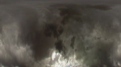 Tunnel-vision of circular dark clouds turning clockwise. Stock Footage
