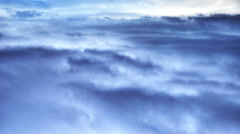 A peaceful view of high altitude blue sky and clouds. - stock footage